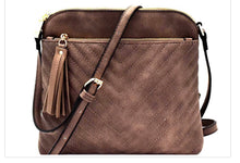 Quilted Leather Look Cross Body