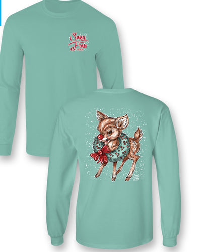 Vintage Reindeer Long Sleeve T shirt