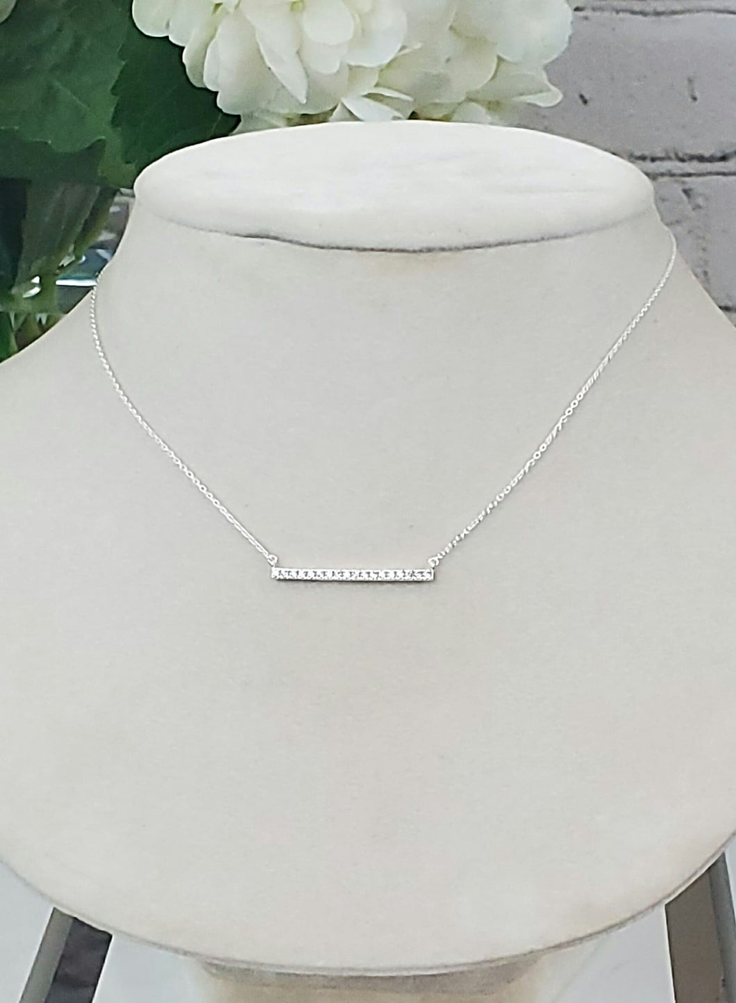 SKOSH Cz Bar Necklace