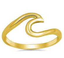 Summer Beach Stainless Steel Wave Ring