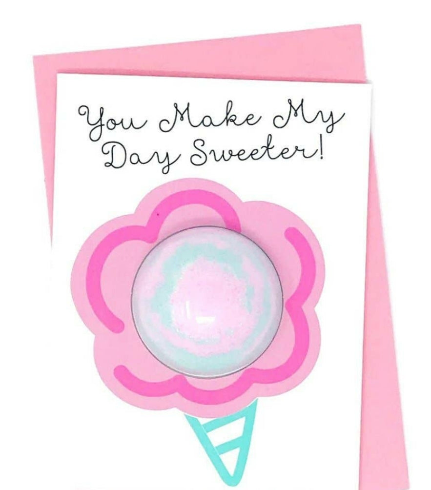 Day sweeter card and bath fizzy