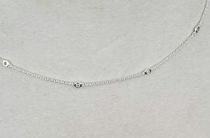 SKOSH tiny cz Sterling Necklace