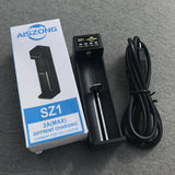 AISZONG SZ1 (1-BAY) SMART BATTERY CHARGER (USB FAST CHARGING)