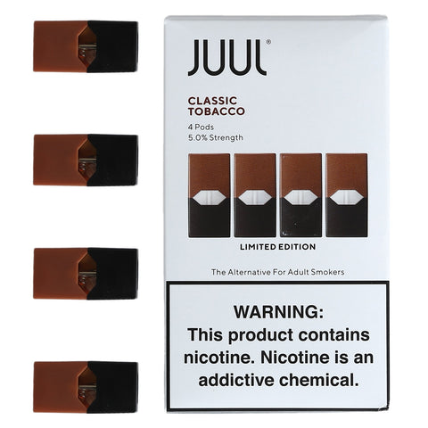 JUUL Pods Flavors (4 Packs) - Classic Tobacco - Limited Edition