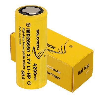 GENUINE SOLOTECH 26650 BATTERY - 3.7V 4200mAh 60A (HIGH CAPACITY)
