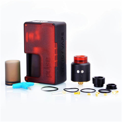 VANDY VAPE PULSE BF KIT FROSTED PANEL EDITION (FROSTED RED)