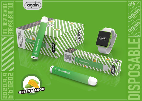 Again Disposable Vape Pod (Internal Battery) - Green Mango