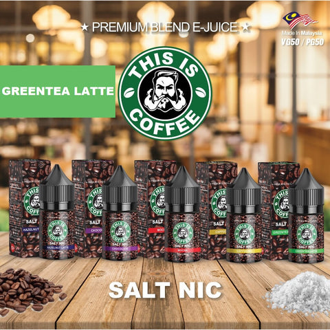 This Is Coffee - GreenTea Latte (Salt Nic) - 30ml