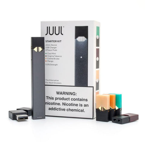JUUL Starter Kit with USB Charger (Includes 4 Flavor Pods)