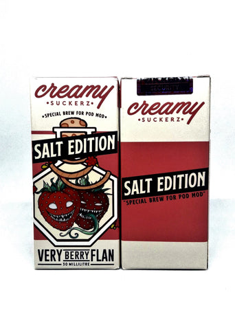Creamy Suckerz - Very Berry Flan  (SaltNic) - 30ml