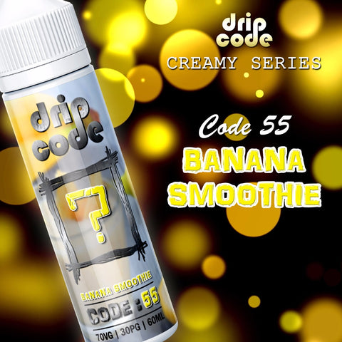 Code 55: Banana Smoothie (Drip Code CREAMY SERIES) - 60ml