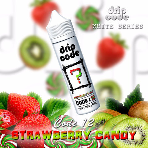 Code 12: Strawberry Candy (Drip Code WHITE SERIES) - 60ml