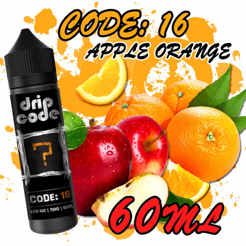 Code 16: Apple Orange (Drip Code) - 60ml