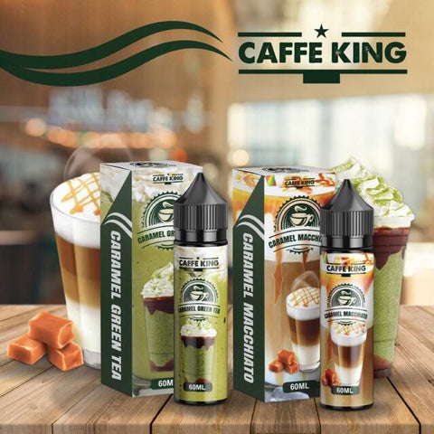 Caffe King - Caramel Macchiato & Caramel Green Tea - 60ml