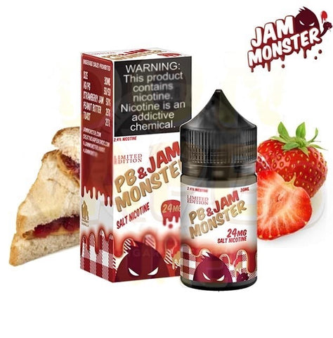 PB & JAM MONSTER SALTS - STRAWBERRY JAM - 30ML