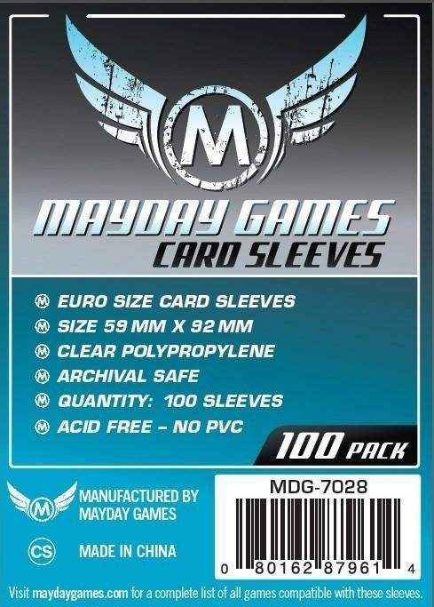 59x92mm Mayday Euro Game Sleeves (Standard/Premium)
