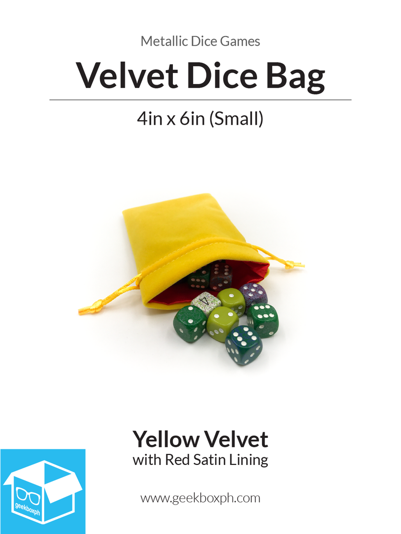Velvet Dice Bag with Satin Lining: 4x6in (Small) - Various Colors