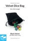 Velvet Dice Bag with Satin Lining: 6x8in (Large) - Various Colors