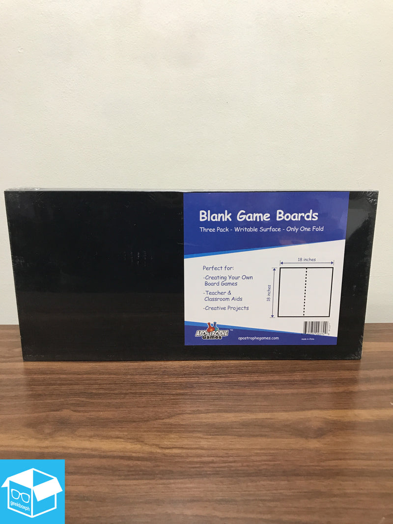 "Supplies: Blank Game Board - 1fold 18x18"" (3 pack)"