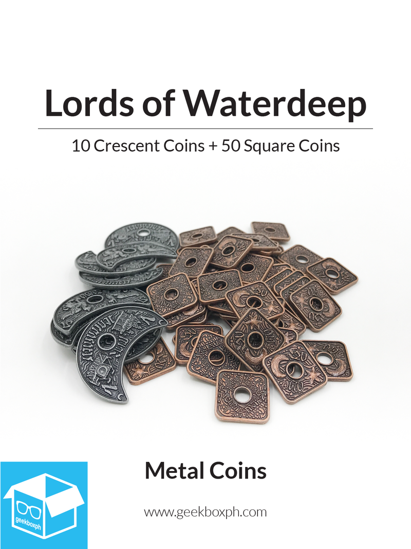 Lords of Waterdeep Compatible - Metal Coins (60)