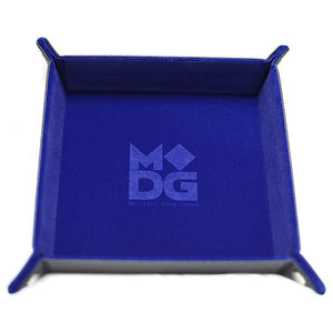 Velvet Folding Dice Tray: 10x10 Blue