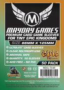 88x125mm Mayday Tiny Epic Kingdoms Game Sleeves (Standard/Premium)