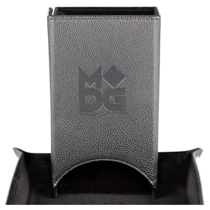 MDG Dice Tower: Fold Up Leather Black
