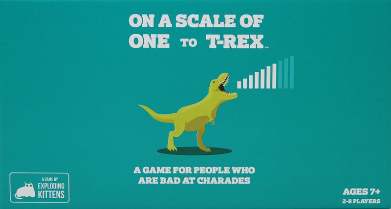 On a Scale of One to T-Rex: A Card Game for People Who Are Bad at Charades