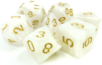 TMG Supply Dargon's Dice: 16mm Divine Light 7-set
