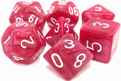 TMG Supply Dargon's Dice: 16mm Coral Grief 7-set