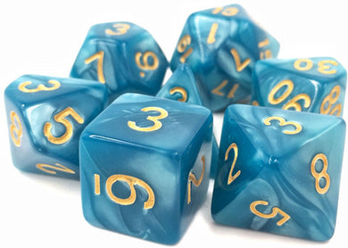TMG Supply Dargon's Dice: 16mm Sleepy Sky 7-set