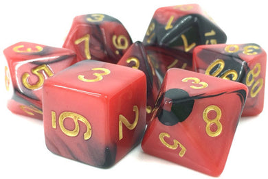 TMG Supply Dargon's Dice: 16mm Blood Pact 7-set