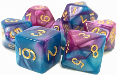 TMG Supply Dargon's Dice: 16mm Sage Blood 7-set