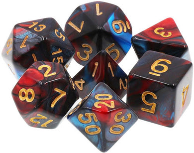 TMG Supply Dargon's Dice: 16mm Red Son 7-set