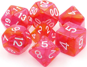 TMG Supply Dargon's Dice: 16mm Dragon's Blaze 7-set