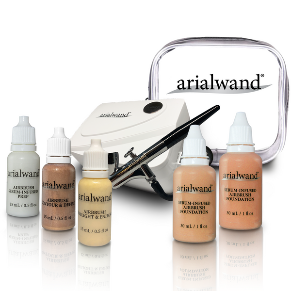 Arialwand COMPLETE Airbrush Makeup Kit - MEDIUM (Shade 3 & 4)