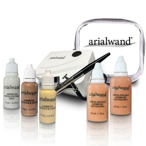 Arialwand COMPLETE Airbrush Makeup Kit - TAN (Shade 5 & 6)