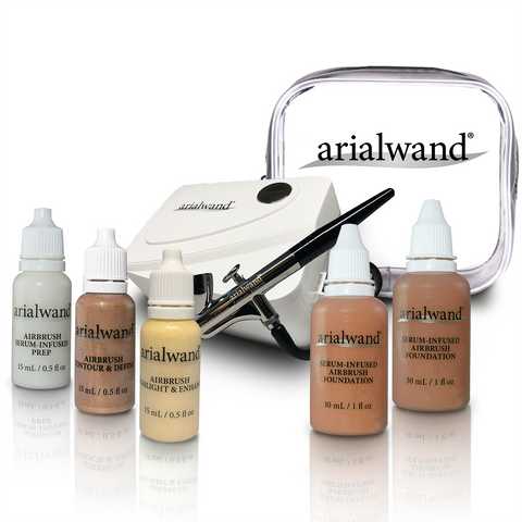 Arialwand Airbrush Makeup Kit COMPLETE - DEEP (Shade 7 & 8)