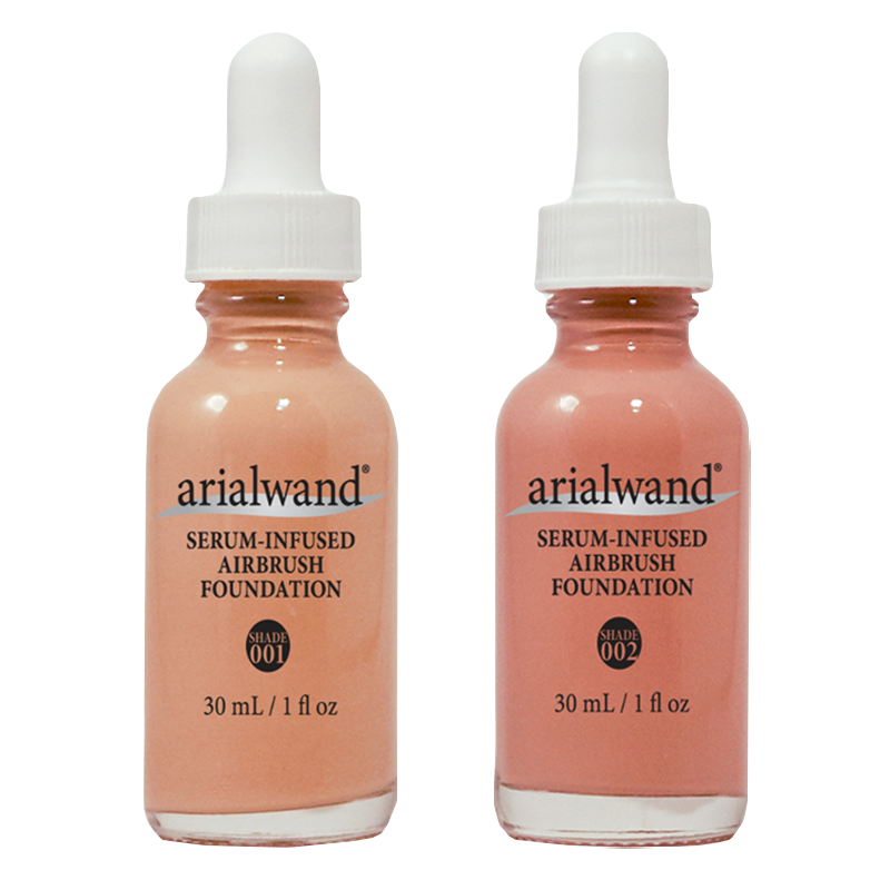 Arialwand Airbrush Foundations W/Hyaluronic Acid - DUO FAIR Porcelain & Ivory