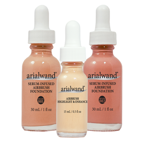 Arialwand Airbrush Makeup Essential Bundle (4 Shade Sets to Choose From)