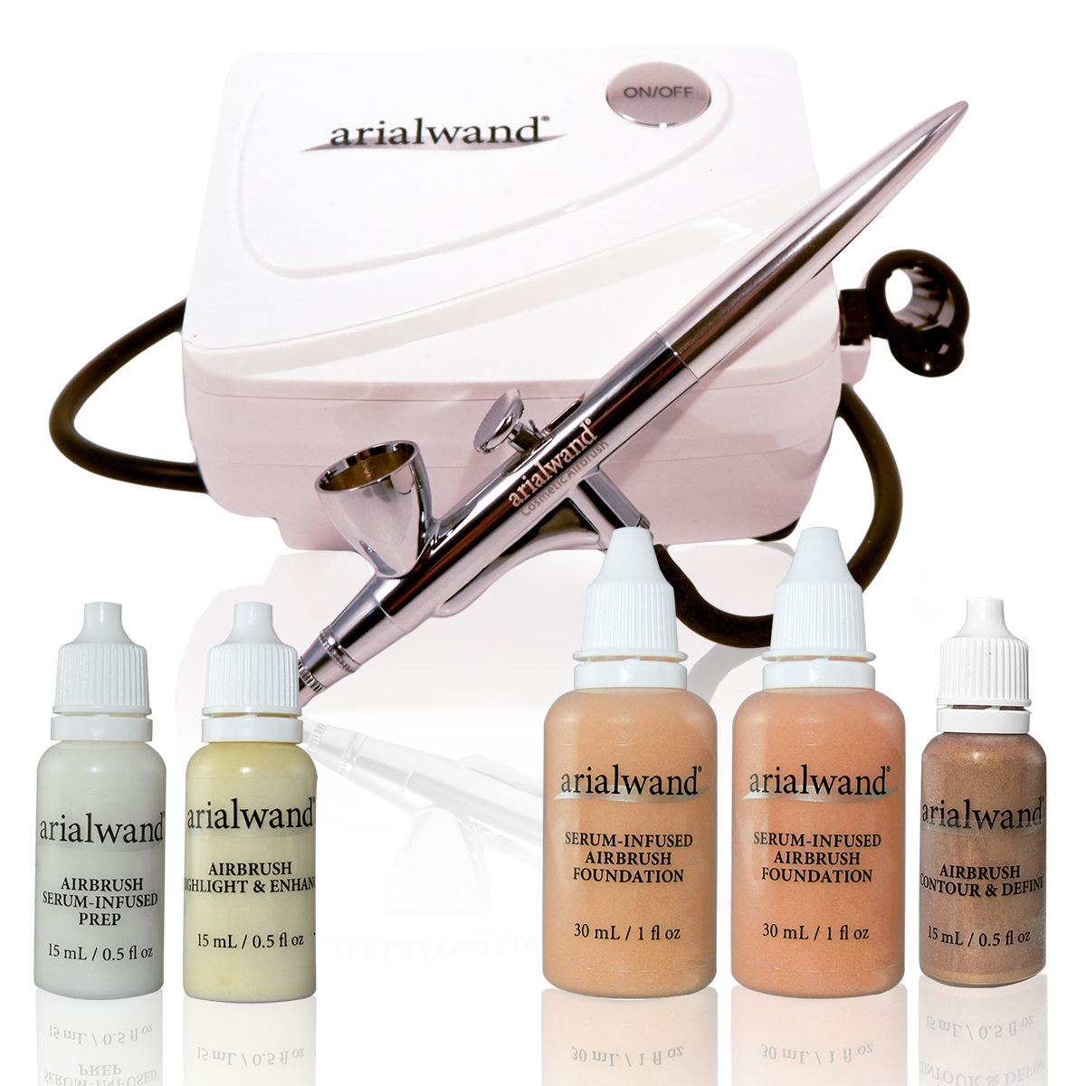 Arialwand Airbrush Makeup Kit - Essential System - MEDIUM + 2 Free Gifts