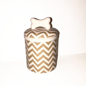Chevron Small Treat Jar - Edie 1965