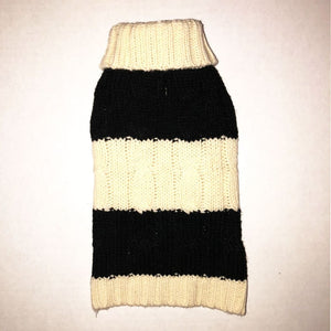 Fisherman Cable Knit Striped Sweater - Edie 1965