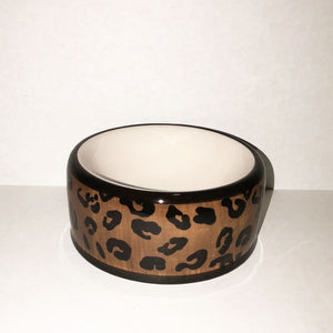 Leopard Dog Bowl - Edie 1965