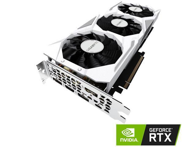 GIGABYTE GeForce RTX 2080 GAMING OC WHITE 8G Graphics Card, 3 x WINDFORCE Fans, 8GB 256-Bit GDDR6, GV-N2080GAMINGOC WHITE-8GC Video Card