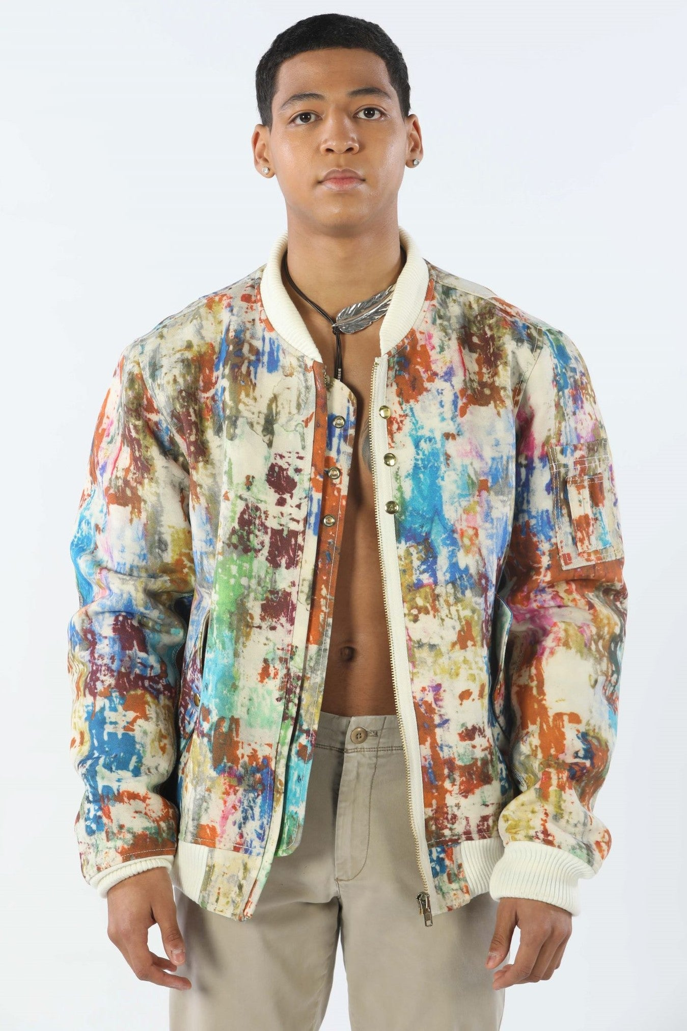 Mens Lumber Multi Color Jacket
