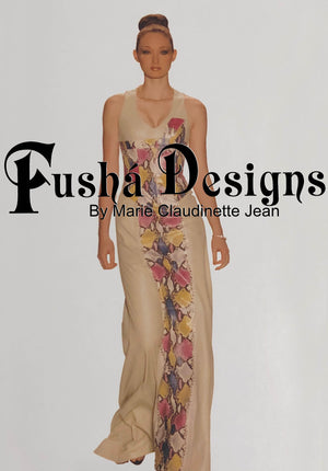 Multi Color Snake Skin Leather Gown