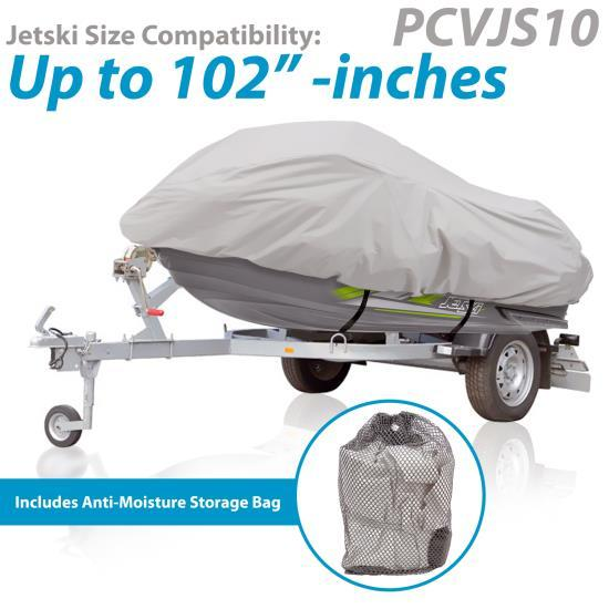 Armor Shield Jetski Storage Cover - Universal Trailer/Storage Cover for Jetski (Up to 102�� -inches)