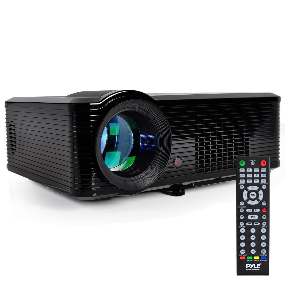 PyleHome Widescreen Projector, 1080p HD Support, Built-In Speakers, (2) HDMI Inputs, PiP (Picture-in-Picture), Adjustable Viewing Screen (60'' - 100'') (PRJLE33)