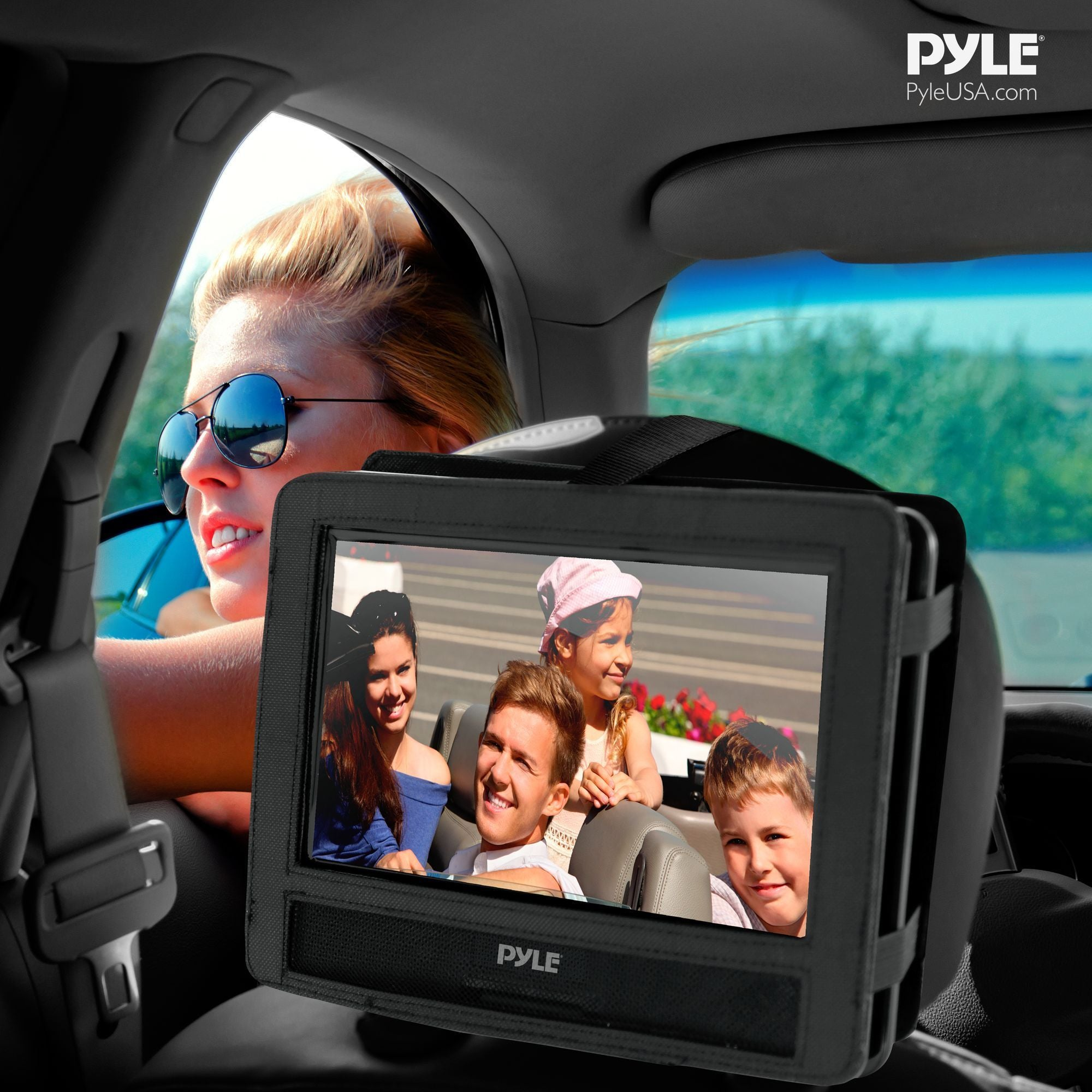 PyleHome 9'' Widescreen High Resolution Portable Monitor w/ Built-In DVD, MP3, MP4 Players, USB Port & SD Card Slot Readers (PDH9)